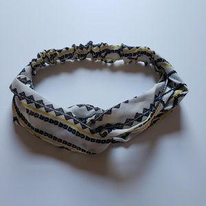 Geometric Print Twisted Headband